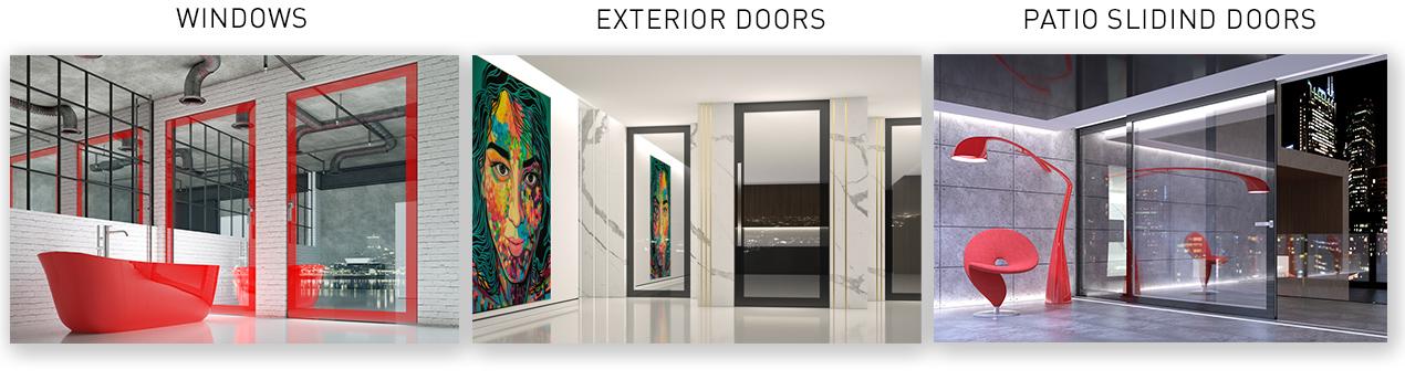 okna - drzwi - drzwi tarasowe